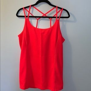 Marika Active Tank Size Large Neon Red.